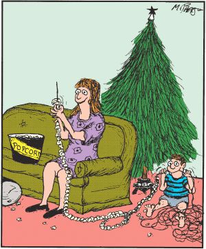#Christmas #decorations #tree #popcorn #humor