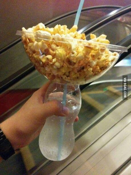 Popcorn & drink holder!