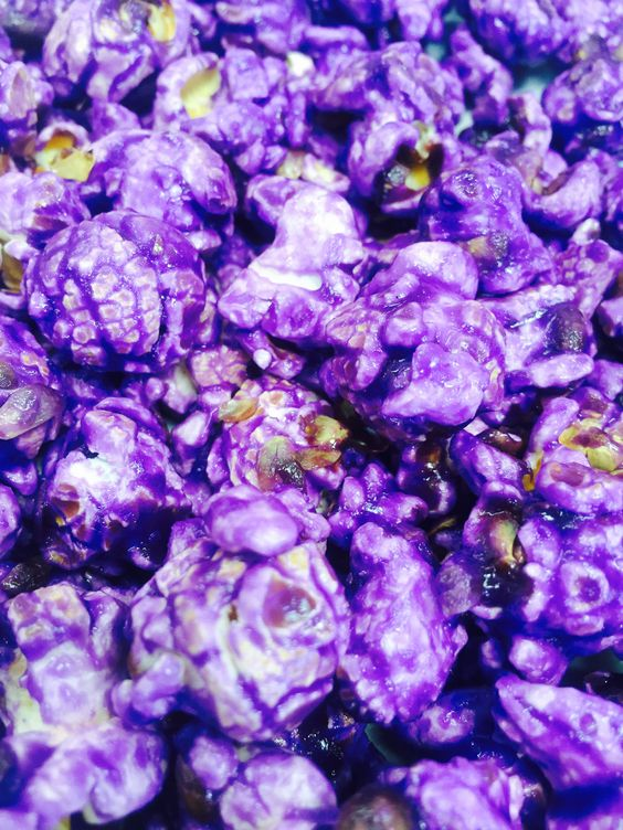 - Flavor - Our Popcorn - Details - Grape Flavored Gourmet Popcorn. - Our popcorn is just what it says….Gourmet Popcorn. No detail in our recipes has been overlooked and we are picky about everything t