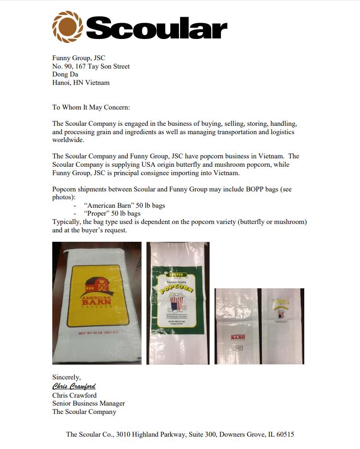 Thông báo về việc thay đổi mẫu bao bì mặt hàng ngô nấm nổ bắp rang bơ -hình 2